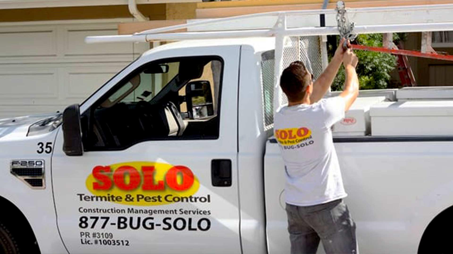 Solo termite pest control service truck